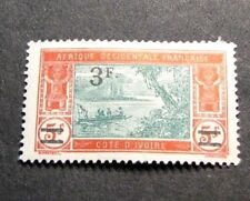 Ivory Coast  Stamp Scott# 89 Surcharged River Scene 1927  MH L139