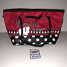 Wisconsin Badgers Purse Hand Bag Tote College Football Red Black White