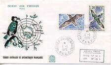 FDC / T.A.A.F. TERRES AUSTRALES TIMBRE N° 56 ET 59 / FAUNE /