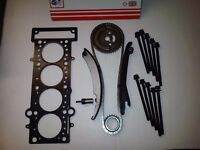 CHRYSLER NEON & PT CRUISER 1.6 TIMING CHAIN KIT + HEAD GASKET & HEAD BOLTS