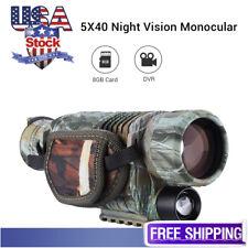 New listing Boblov 5x40 Hd Digital Infrared Night Vision Monocular Camera Camcorder with 8Gb