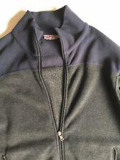 PRADA MILANO SPORT Mens Navy Grey Fleece JACKET COAT SIZE L