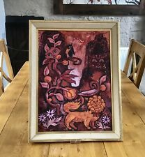 Original 1960s Psychedelic Oil Painting Oil On Board Flower Power Conelly 1965