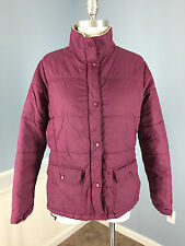Lands' End M P 10 12 Burgundy Coat jacket Puffer Winter Ski Snow