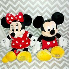 "New listing Genuine Disney Store 10"" Plush Stuffed Mickey and Minnie Mouse Set Brand New"