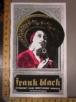 2006 Rock Roll Concert Poster Frank Black Print Mafia S/N LE # 100 Nashville