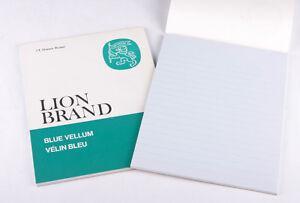 Vintage Lion Brand Blue Vellum Size 2 Pad (24 Sheets) x 2