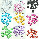 U Pick New 100pcs Resin Faceted Heart Crystal 10mm FlatBack DIY Jewelry Craft