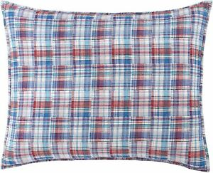 Southern Tide King Plaid Sham Legacy Cotton Multi Color 20 x 36 Inches