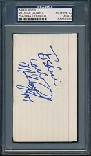 Melissa Gilbert Index Card PSA/DNA Certified Authentic Auto Autograph *3864