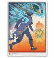 JoJo's Bizarre Adventure Japanese Edo Style Giclee Poster Print 12x17 Mondo