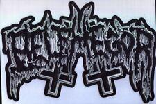 Belphegor - Weisses Logo Rückenaufnäher