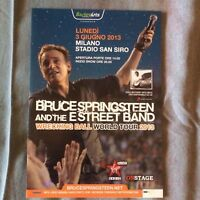 BRUCE SPRINGSTEEN MILANO 2013 original promo flyer gatefold mini poster 15 x 20