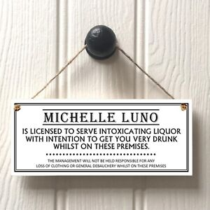 Landlord PUB or BAR Licensee Sign - Man Cave Home Bar Pub New Home Fun Gift