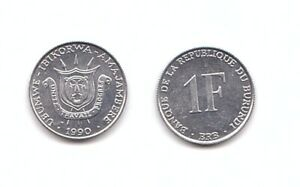 Burundi - 1 Franc 1990 UNC Lemberg-Zp