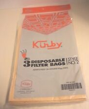 Genuine Upright Kirby Vacuum Cleaner Bags, (3PK) Kirby Style No 2, NEW