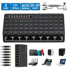 New 10/100 Mbps 8 Port Fast Ethernet LAN Desktop RJ45 Network Switch Hub Adapter