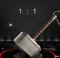 The Avengers Thor 1:1 Mjolnir Hammer Base Brushed Metal Cosplay Prop Replica