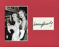 Lauren Bacall Marry a Millionaire Signed Autograph Photo Display Marilyn Monroe
