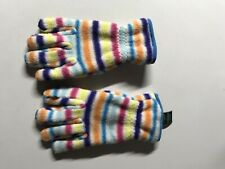 L.L. Bean Kids' Trail Model Fleece Gloves Rainbow. Size Large