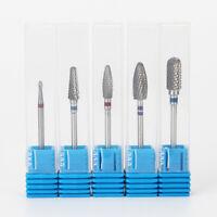 1 X Nail Art Drill Bit Carbide File Cuticle Clean Burr Manicure Pedicure Tool