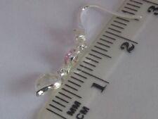 Cubic Zirconia Hook Heart Fine Earrings