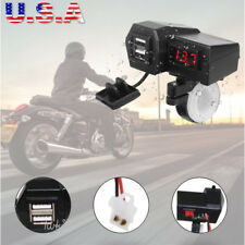 Waterproof Motorcycle Bike USB Phone Power Charger LED Voltmeter For Sports Bike
