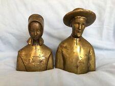 Very Rare antique amish bronze figures