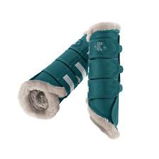 Eskadron Classic Sports Tendon Faux Fur Boots - Teal Blue: Large