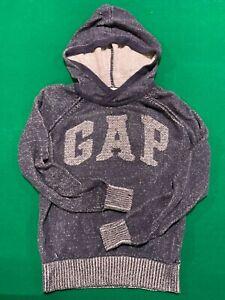 Vintage GAP Dark Blue Hoodie Long-sleeve Sweatshirt Women Size Small Cotton