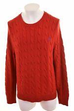 POLO RALPH LAUREN Mens Crew Neck Jumper Sweater XL Red Cotton  S004
