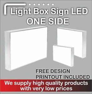 Illuminated Light Box Shop Sign (FREE DELIVERY + FREE DESIGN) - 80 cm x 50cm
