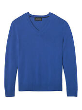 Banana Republic - Todd & Duncan Cashmere Vee Blue Large  ($198) NWT