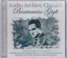 Beniamino Gigli Audio Archive Classics CD NEW
