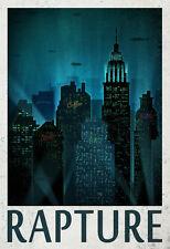 Rapture Retro Travel Poster Poster Print, 13x19