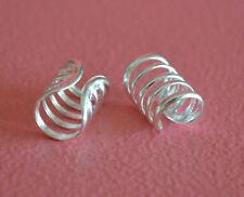 925 Sterling Silver Plain Wire Ear Cuffs Earrings - Wire Wrap Ear Cuffs Earrings