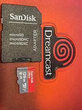 128gb Sandisk SD Card for Sega Dreamcast GDEMU (Setup & Ready)