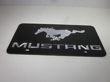 MUSTANG FORD Acrlic Mirror License Plate Auto Tag nice