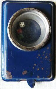 Scarce Vintage Blue Toto Dicer Pocket Mechanical Popper Dice Game