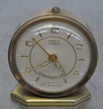 vintage alarm clock 60s Mechanische hochwertige ORIS Wecker Uhr swiss made ~60er
