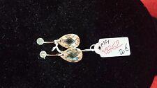 BOUCLES D'OREILLES OVALE BRILLANT JAUNE -ARGENT MASSIF STERLING SILVER- REF18762