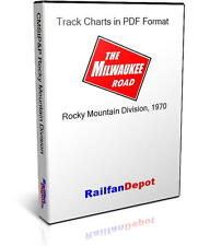Milwaukee Road Track Chart Rocky Mountain Division - PDF on CD - RailfanDepot