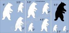 New-Bears B~Shapes Stencil~Diy U Paint Cabin Animal Zoo Mountain Black Polar Hug