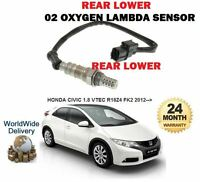 FOR HONDA CIVIC 1.8 VTEC 2012 >NEW REAR LOWER POST CAT 02 OXYGEN LAMBDA SENSOR