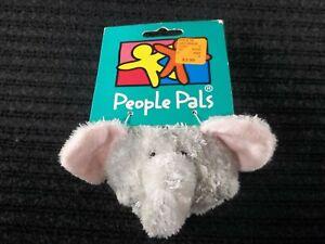 Aurora World People Pals Gray Elephant Plush backpack clip Stuffed animal mini