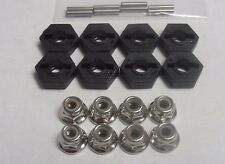8x Wheel Hex Fittings (5 x12mm),4mm Wheel Nuts,Axle Pins For Most Team C/Ansmann