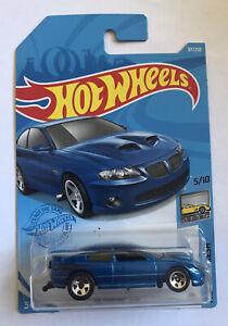 2021 HOT WHEELS #87 '06 Pontiac GTO (Holden Monaro - Blue Case J Long Card) New