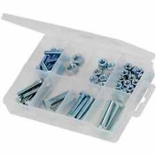 75 Pc Hex Bolts And Nuts Pack Size M5 20mm to M8 30mm Plastic Storage Case DIY