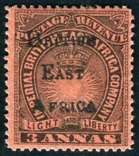 BRITISCH OSTAFRIKA 1895 30 * 3 ANNA , signiert MIRO (D9649