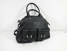 STRENESSE Damen Leder Handtasche in Schwarz Elegant    ( R 1183 )